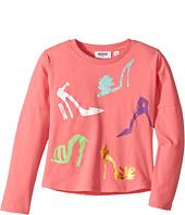 Moschino Kids - Long Sleeve High Heels Graphic T-Shirt (Little Kids/Big Kids)
