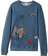 Little Marc Jacobs - MTV Style Badges Long Sleeve Sweatshirt (Big Kids)