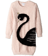 Little Marc Jacobs - Knitted Swan Illustration Long Sleeve Dress (Toddler/Little Kids)