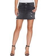 Hudson - Vivid Denim Mini Skirt w/ Released Hem in Pretender