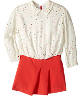 Paul Smith Junior - Hearts Blouse w/ Fitted Bottom Dress (Toddler/Little Kids)