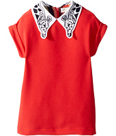 Paul Smith Junior - Solid Coral Dress w/ Giraffe On Collar (Toddler/Little Kids)
