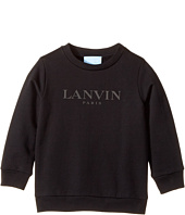 Lanvin Kids - Long Sleeve Logo Sweat Top (Toddler/Little Kids)