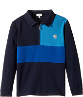 Paul Smith Junior - Color Blocked Zip Polo (Toddler/Little Kids)