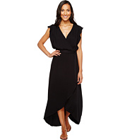 Splendid - Solid Ruffle Wrap Dress