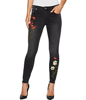 ROMEO & JULIET COUTURE - Floral Embroidery Skinny Denim Pants