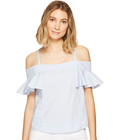 ROMEO & JULIET COUTURE - Ruffled Cold Shoulder Top