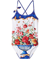 Dolce & Gabbana Kids - Caltagirone Printed Swimsuit (Big Kids)