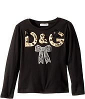 Dolce & Gabbana Kids - City Logo Long Sleeve T-Shirt (Toddler/Little Kids)