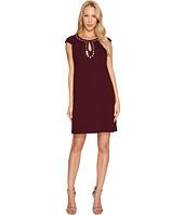 Jessica Simpson - Short Sleeve Dress w/ Keyhole Neck