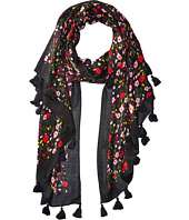 Kate Spade New York - Bohemian Floral Oblong with Tassels