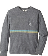 VISSLA Kids - Dredger Long Sleeve Pocket Knit (Big Kids)