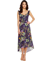 Ivanka Trump - Tropical Print Ruffle Sleeve Dress