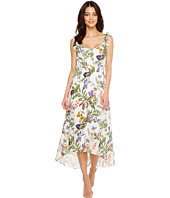 Ivanka Trump - Tropical Print Ruffle Sleeve Dress