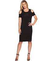 Ivanka Trump - Cotton/Modal Cold Shoulder Midi Dress
