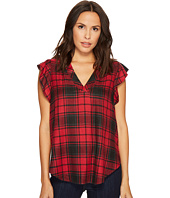 TWO by Vince Camuto - Cap Sleeve Stateside Plaid V-Neck Blouse