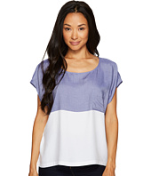 TWO by Vince Camuto - Short Sleeve Engineered Block Stripe Boxy Shirt