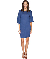 TWO by Vince Camuto - Ruched Bell Sleeve Slub Jersey Knit Dress