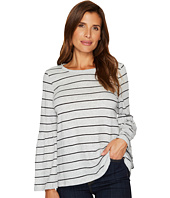 TWO by Vince Camuto - Ruched Bell Sleeve Nova Thin Stripe Top