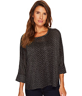 Tribal - Dolman Sleeve Knit Burnout Shirt