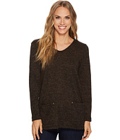 Tribal - Long Sleeve Texture Knit Tunic w/ Pockets