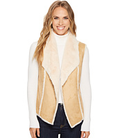 Tribal - Faux Fur Vest w/ Shawl Collar Back
