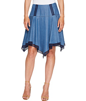 Ivanka Trump - Hanky Hem Denim Tencil Skirt