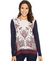 Tribal - Long Sleeve Printed Combo Front Top