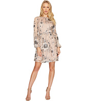 Aidan Mattox - A-Line Embroidered Sequin Cocktail Dress with Bishop Sleeves