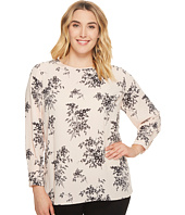 Vince Camuto Specialty Size - Plus Size Long Sleeve Delicate Bouquet Blouse