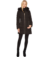 Calvin Klein - Puffer Mid-Length with Knit Side Detachable Fur Trimmed Hood