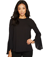 Vince Camuto Specialty Size - Petite Flared Sleeve Crew Neck Blouse