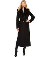 Calvin Klein - Wool Maxi Belted Fur Trimmed