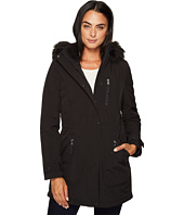 Calvin Klein - Softshell with Sherpa Lining and Detachable Fur Trimmed Hood