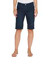 Ivanka Trump - Denim Bermuda Shorts in Dark Blue