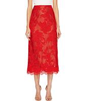 Marchesa - Corded Lace Tea Length Skirt