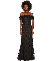 Marchesa Notte - Off the Shoulder Gown w/ 3D Petals