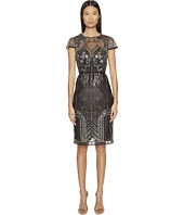 Marchesa Notte - Embroidered Cocktail w/ Cap Sleeves