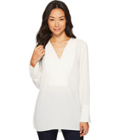 Vince Camuto - Long Sleeve Doubled V-Placket Tunic