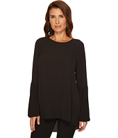 Vince Camuto - Pleated Bell Sleeve High-Low Hem Blouse