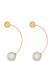 Majorica - 12mm Round Gold Plated Earrings