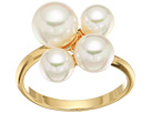 White Round Pearl Cluster Gold-Plated