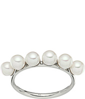 Majorica - Round Pearls on Rhodium Plated Ring
