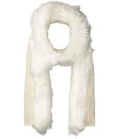 LAUREN Ralph Lauren - Fur Trimmed Jersey Scarf