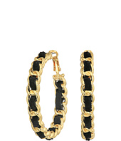 GUESS - Frozen Chain Woven Hoop Earrings