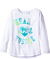 adidas Kids - Long Sleeve Heart and Hustle Tee (Big Kids)