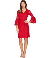 Maggy London - Lace Sheath Dress with Novelty Sleeves