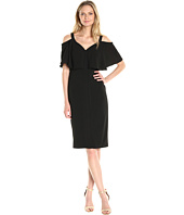Maggy London - Cold Shoulder Midi Sheath Dress w/ Flutter Sleeves