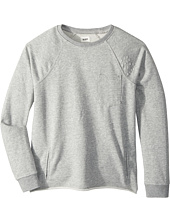 Hudson Kids - Raglan Shirt French Terry Pullover w/ Grinding & Destruction (Big Kids)