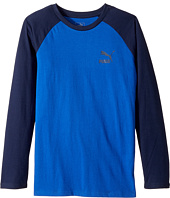 Puma Kids - Long Sleeve Raglan Screen Tee (Big Kids)